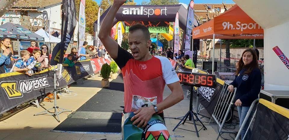 Albert Pujol 'vuela' para ganar la Marató del Montseny 2018