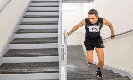 David Robles a por el 'récord de la hora' de subir escalones y acumular desnivel positivo