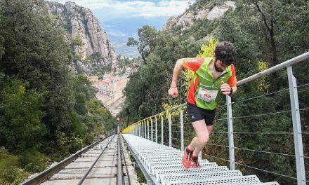 Ángel López Amor y David Robles preparados para los 2.180 escalones de la Vertical Montserrat