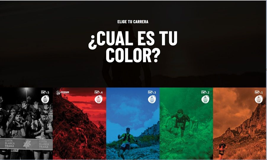 Costa Blanca Trails: un color para cada una de sus 5 carreras de pura montaña