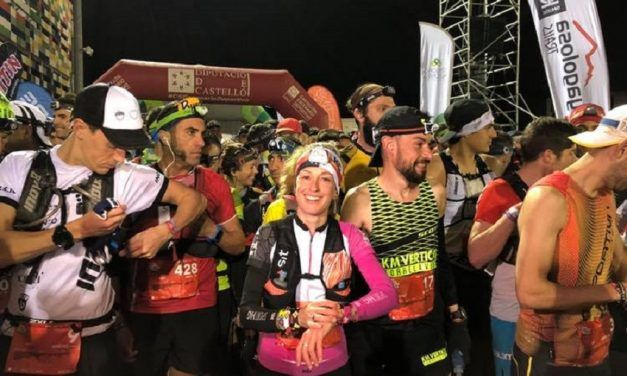 Azara García y Borja Fernández 'carrerón' en la Marató i Mitja 2019