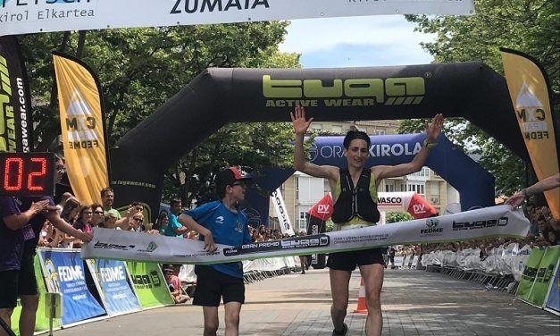 Oier Ariznabarreta y Oihana Kortazar los más rápidos de Zumaia Flysch Trail